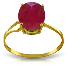 Brand New 3.5 CTW 14K Solid Gold Something To Be Said Ruby Ring - $274.55