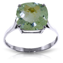 Brand New 3.6 CTW 14K Solid White Gold Hymne L'amour Green Amethyst Ring - £186.66 GBP