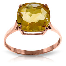 Brand New 3.6 ct 14K   Rose Gold Ring Natural Checkerboard Cut Citrine - £188.93 GBP