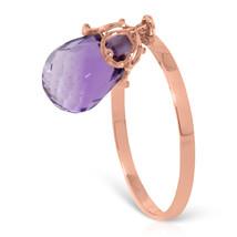 Brand New 3 CTW 14K   Rose Gold Ring Dangling Briolette Purple Amethyst - £124.11 GBP