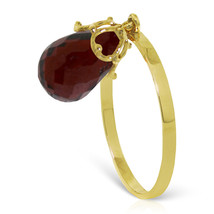Brand New 3 CTW 14K Solid Gold Ring Dangling Briolette Garnet - $155.66