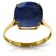 Brand New 4.83 CTW 14K Solid Gold Ring Natural Cushion Sapphire - $375.21