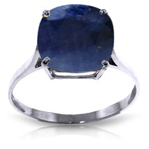 Brand New 4.83 CTW 14K Solid White Gold Ring Natural Cushion Sapphire - $380.21