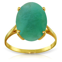 Brand New 6.5 CTW 14K Solid Gold Ring Natural Oval Emerald - $654.28