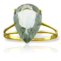 Brand New 5 Carat 14K Solid Gold Hot Response Green Amethyst Ring - $237.03