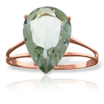 Brand New 5 CTW 14K Solid Rose Gold Sensuality Green Amethyst Ring - $245.03