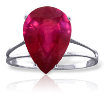 Brand New 5 Carat 14K Solid White Gold Dante's Beatrice Ruby Ring - $401.66