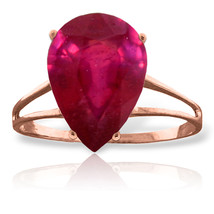 Brand New 5 CTW 14K Solid Rose Gold Sensuality Ruby Ring - $404.66