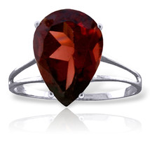 Brand New 5 CTW 14K Solid White Gold This Tender Night Garnet Ring - $302.30