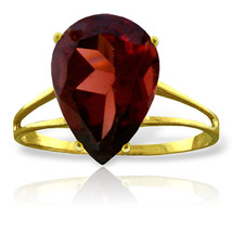 Brand New 5 CTW 14K Solid Gold Nearly Not Bare Garnet Ring - $297.30