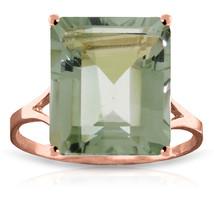Brand New 6.5 Carat 14K   Rose Gold Ring Natural Octagon Green Amethyst - $311.47