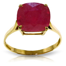 Brand New 6.75 Carat 14K Solid Gold Ring Natural Cushion Shape Ruby - $490.13