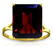Brand New 7 CTW 14K Solid Gold Ring Natural Octagon Garnet - £251.12 GBP