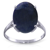 Brand New 8.5 Carat 14K Solid White Gold Ring Natural Oval Sapphire - £429.05 GBP