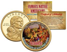 POCAHONTAS *Famous Native Americans* Sacagawea Dollar US Coin JOHN SMITH... - $8.56