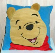 "Winnie the Pooh Bear with Smile & 3-D Fuzzy Ears 13"" X 13"" Decorative Pi... - $7.79"
