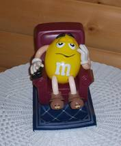 M & M's Yellow with TV Remote in Recliner Chair with Foot Rest Candy Dis... - $7.95