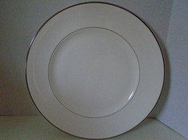 Wedgwood Sterling Dinner Plate New White  Silver Bone China Leigh - $27.76