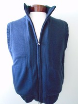 Weatherproof Vintage 1948 Lined Vest Full Zipper Original New Navy Blue M  - $60.50