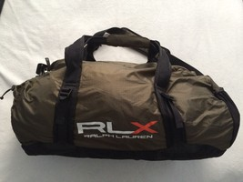 Ralph Lauren RLX Green Overnight Duffle Bag Fold away packable Removable... - $65.17