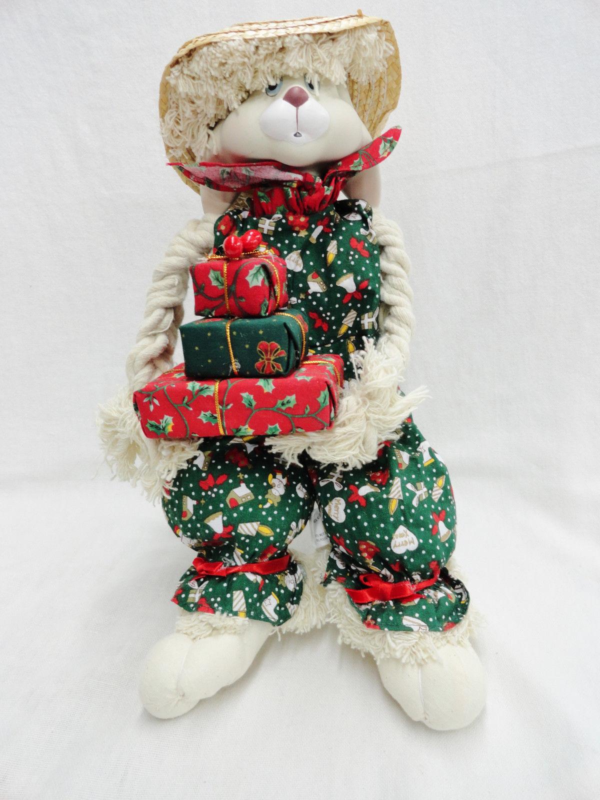 House of Lloyd Floyd Christmas Bunny Rabbit Lop Eared Porcelain Stuffed Doll