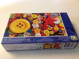Buttons Puzzlebug  Puzzle Colorful LPF  Jigsaw New 500 Yellow Red White ... - $15.78
