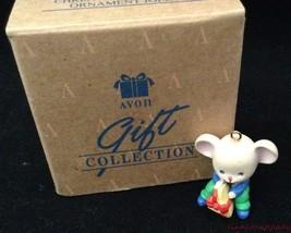 Merry Little Christmas Miniature Ornament Jolly New in Box Avon FR SHP - $12.81