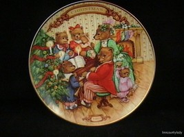 Vtg 1989 Collector Plate Together for Christmas Bear Family Makes Music MIB FR S - $24.69
