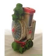 Vtg 1971 Ceramaster Train Bank Japan Green Pink Blue Tall Ceramic FR SHP - $29.64