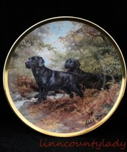 Royal Doulton Black Lab Dog Collector Plate End of Trail Franklin Mint F... - $24.69
