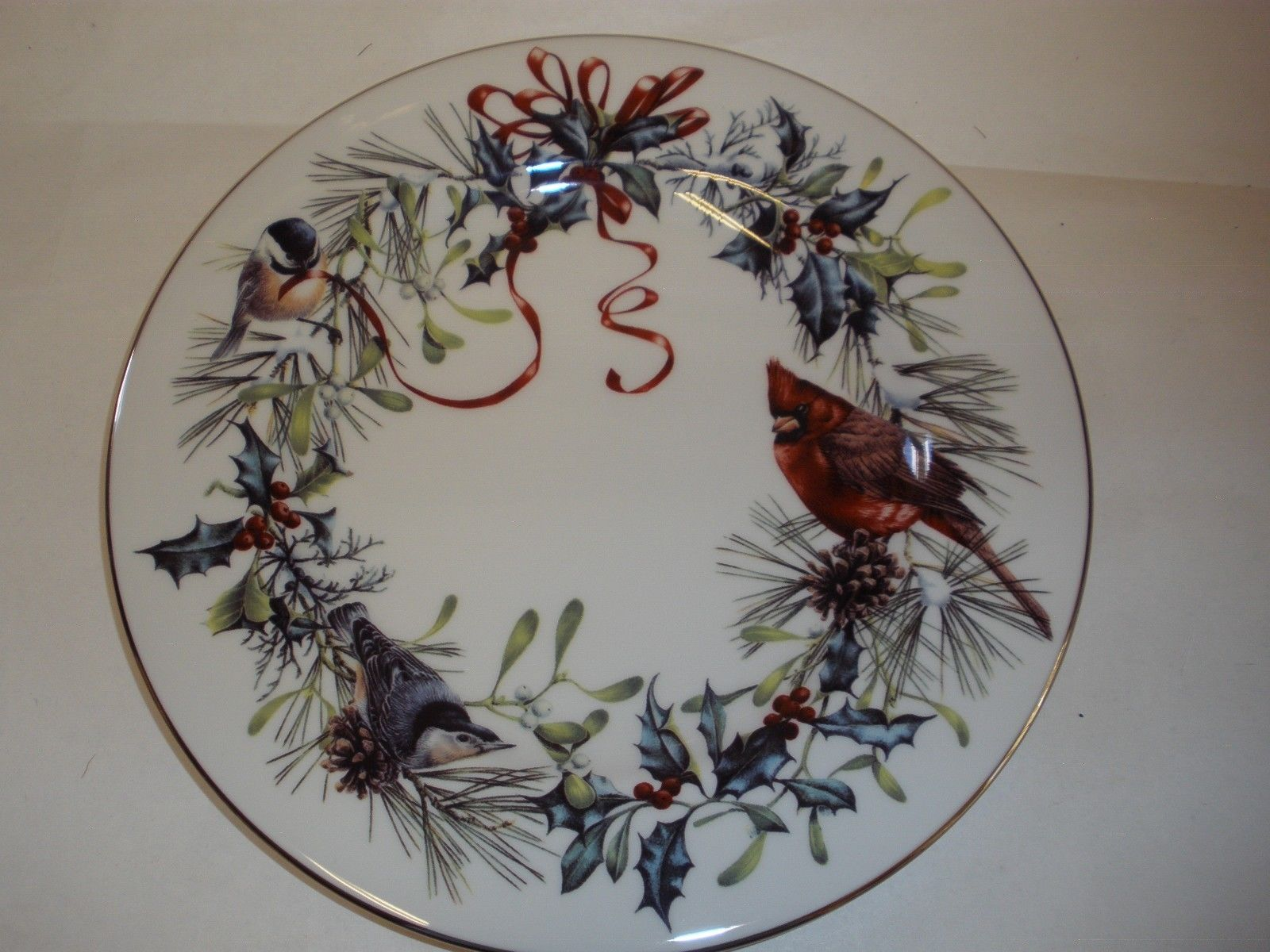 Lenox winter greetings christmas salad and 10 similar items lenox winter greetings christmas salad dessert plate american catherine mcclung m4hsunfo