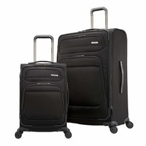 Samsonite Epsilon NXT Luggage Black 2-Piece Softside Expandable Wheels Zipper - $204.99
