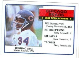 Walter Payton football card 1983 Topps #28 (Chicago Bears) - $4.00