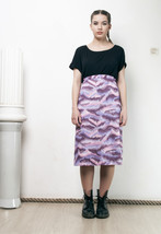 70s vintage cloudy sky skirt - $29.47