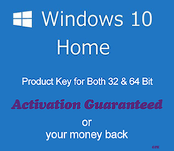 Windows 10 Home 32/64Bit Key with Download - $5.80