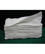 Super Soakers Cloth Diaper Insert Doubler 13x5 Bamboo Cotton Fleece Six ... - $6.44