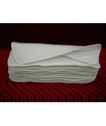 "3 Layer Soaker Cloth Diaper Insert Liner13X5"" Hemp Organic Bamboo Cotton... - $3.96"