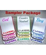 Cloth Diaper Insert Soaker Doubler Organic Bamboo Cotton Fleece Booster ... - $19.00