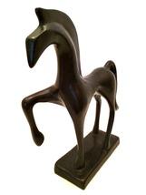 Horse Figurine Heavy Modern Art Statue 8 inches... - $56.42