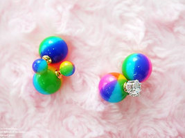 Front and Back Lollipop Beads ear jacket, Candy... - $15.00