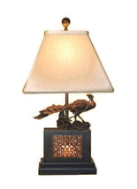 "Oriental Brass Bronze Terracotta Warrior Figure Table Lamp Shade Finial 28"" - $247.49"