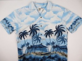 KY's Mens Hawaiian Beach Paradise Island Plane Shirt Size Large MADE IN ... - $14.49