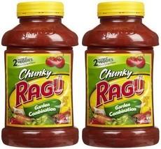 Ragu Chunky Pasta Sauce, Garden Combination, 45 Ounce Bottles (Pack of 2) - $21.62