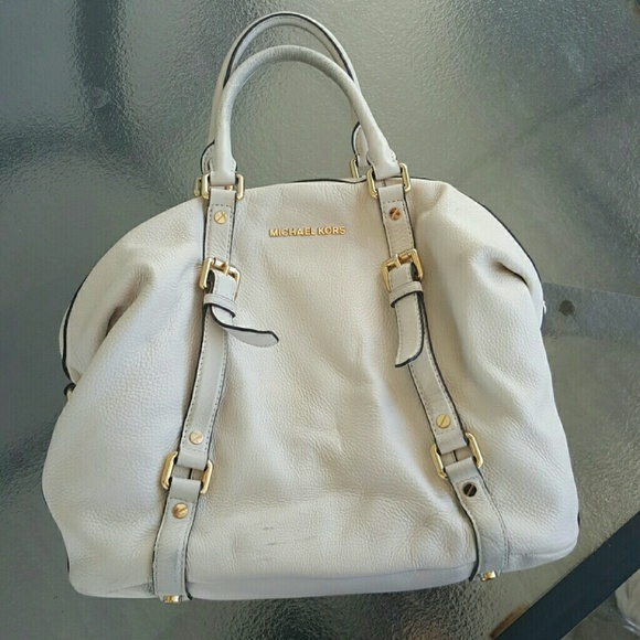 5ace882d8e77 Michael Kors Bedford Leather Satchel - White and 32 similar items
