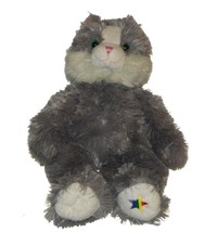 Noahs Ark Animal Workshop Plush Gray White Kitty Cat Lovey 16 inch Minty... - $22.65