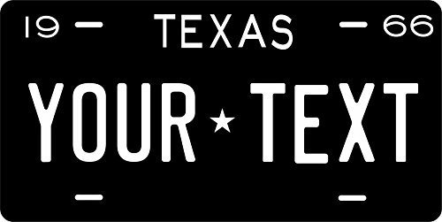 Texas 1966 Personalized Tag Vehicle Car Auto License Plate
