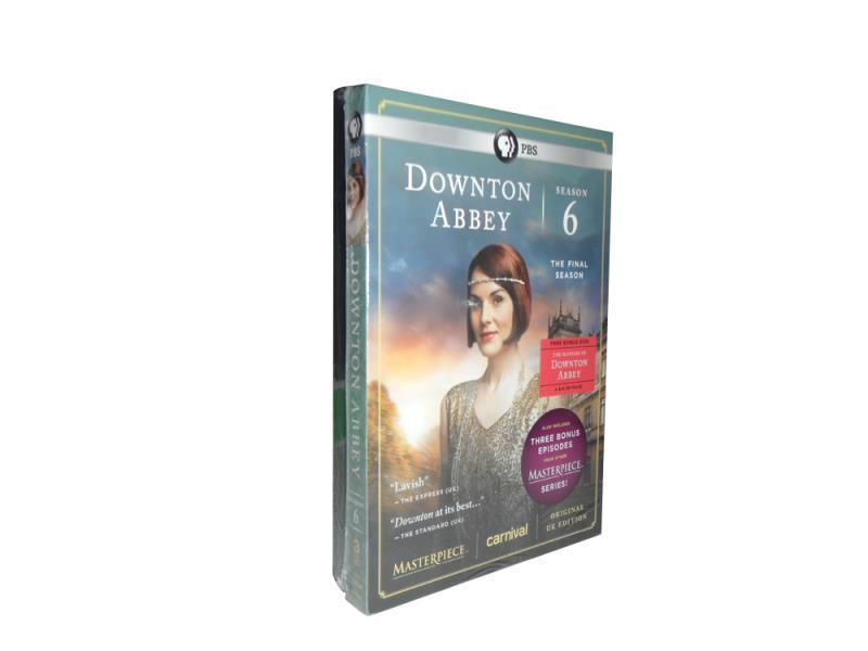 Downton Abbey The Complete Season 6 DVD Box Set 5 Disc Free Shipping