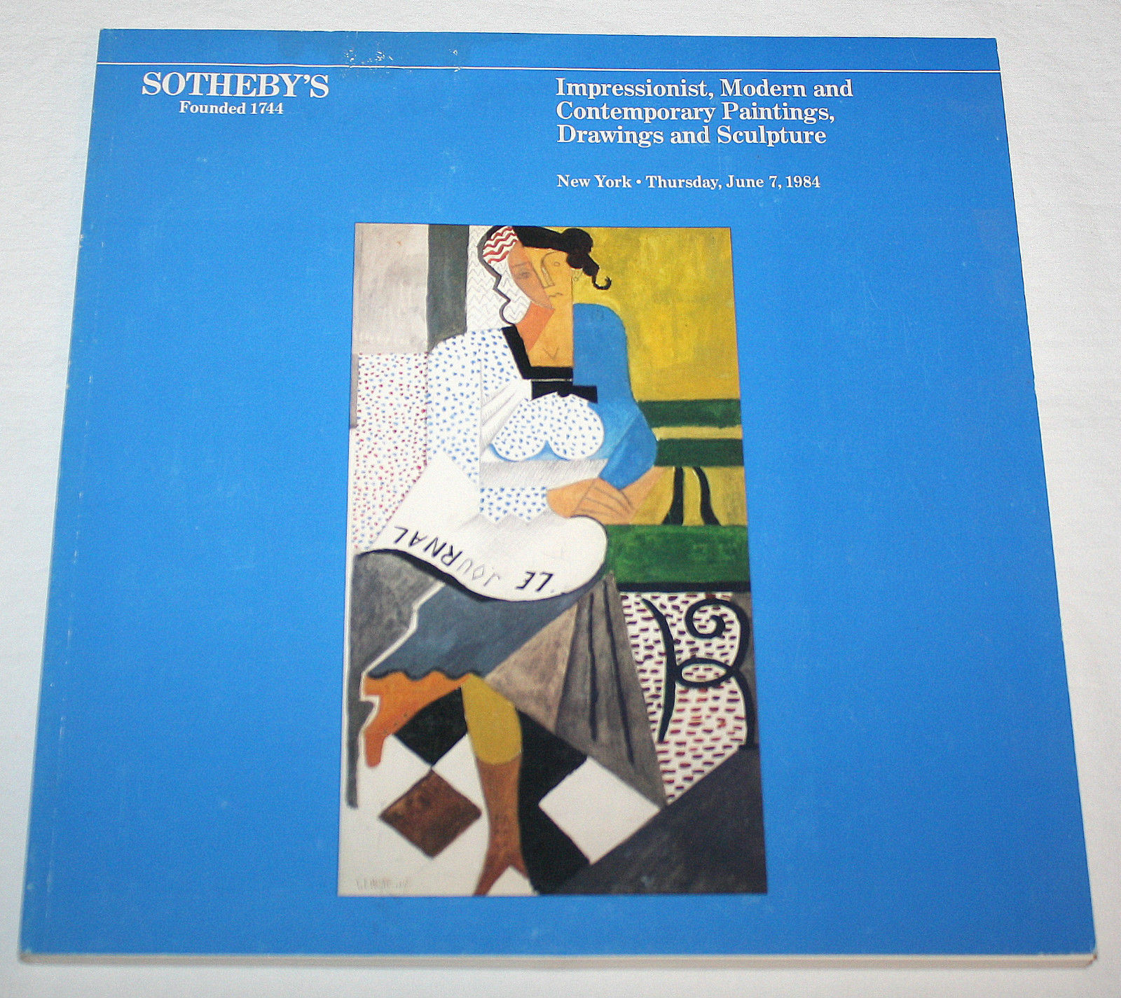 Sothebys Catalog Impressionist Modern Contemporary Painting Drawing Sculpture 84