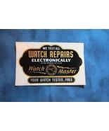 1940's Unused Watch Repair Shop Window Decal, Watch Master - $15.88