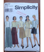Simplicity 8877 Sewing Pattern Skirt in Three Lengths 6-8-10-12 - $5.40